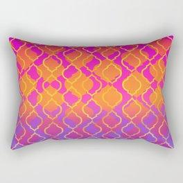 Bold Vivid Vibrant Colorful Pink Orange Gold Rectangular Pillow