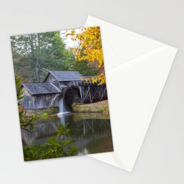 Rustic Mill in Autumn Stationery Cards