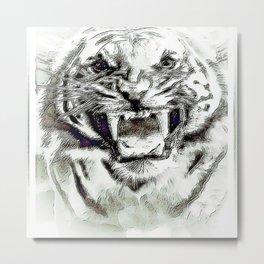 Big Cat Models: Mad Tigers 01-03 Metal Print
