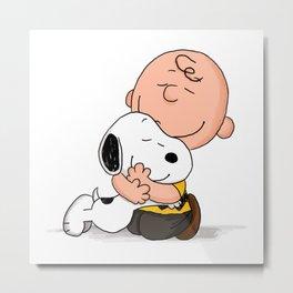 Snoopy Hugs Metal Print