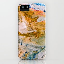 Marble Effect Acrylic Pour Abstract iPhone Case