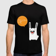 Follow The White Rabbit LARGE Mens Fitted Tee Black