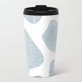 Large Giraffe chambray texture Travel Mug