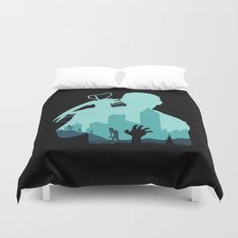 Sniping Zombies!!! Duvet Cover