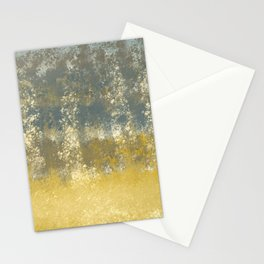 Blue and Gold Textures Abstract Stationery Cards