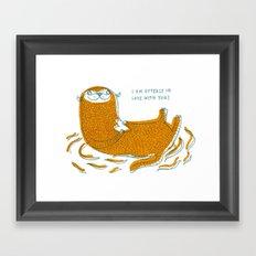 Otterly In Love Framed Art Print