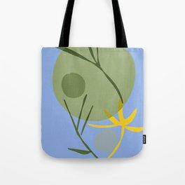 zen garden night green moon Tote Bag