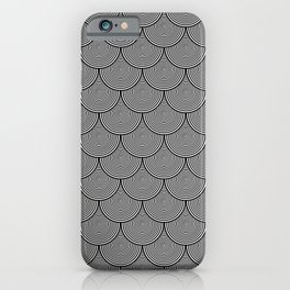 Hypnotic Black and White Circle Scales Pattern - Graphic Design iPhone Case