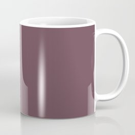 Dark Plum, Solid Color Collection Coffee Mug