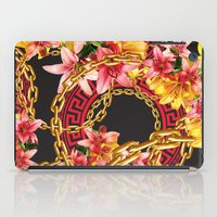 versace iPad Cases featuring Chained in Gold  Flowers by Dave Higs