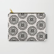 Bohemian Medallions - Dark gray and cream Pattern Carry-All Pouch