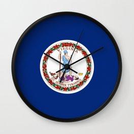 Virginia State Flag Wall Clock