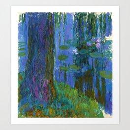 """Claude Monet """"Saule pleureur et bassin aux nymphéas"""" (Weeping Willow and Water Lily Pond) Art Print"""