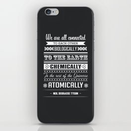 We Are All Connected (Black) iPhone Skin