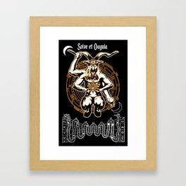 Baphomet - Solve et Coagula Framed Art Print