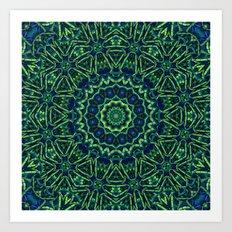 Blue/Green Mandala Art Print