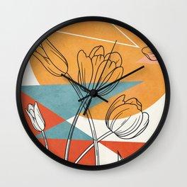 Vibrant Flower Design 1 Wall Clock