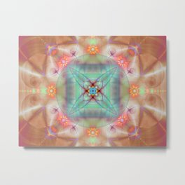 Fractal Art- Mint Art-Coral Art- Juorbin- Sacred Geometry Metal Print
