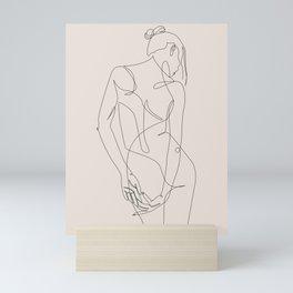 ligature - one line art - pastel Mini Art Print