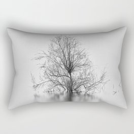 """Peace Tree"". Sunrise at the lake Rectangular Pillow"