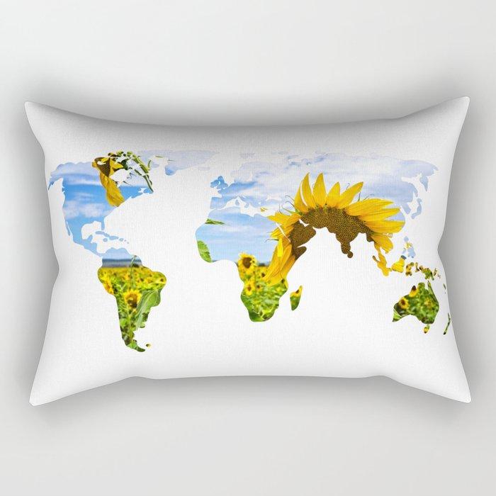 World of Sunflowers Rectangular Pillow