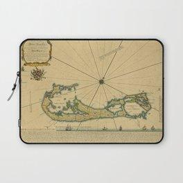 Map Of Bermuda 1732 Laptop Sleeve