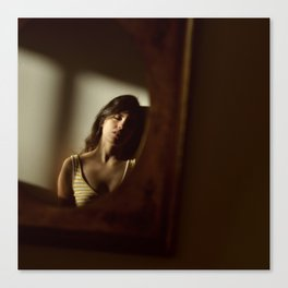 Girl and Light Reflection Canvas Print