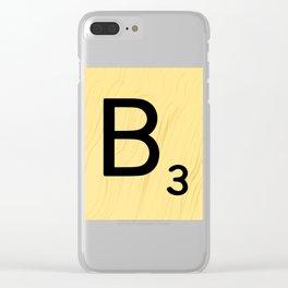 Scrabble B Decor, Scrabble Art, Large Scrabble Prints, Word Art, Accessories, Apparel, Home Decor Clear iPhone Case