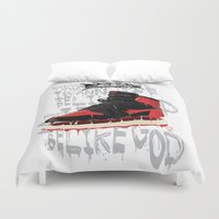 bible verse Duvet Covers featuring SOLE Search verse 1 by martymar54