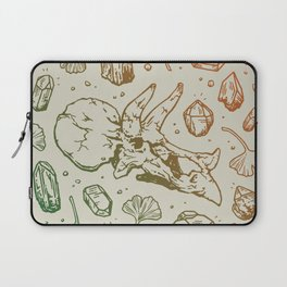 Triceratops Rocks! | Leaf Green & Pumpkin Spice Ombré Laptop Sleeve