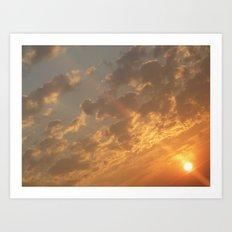 Sun in a corner Art Print