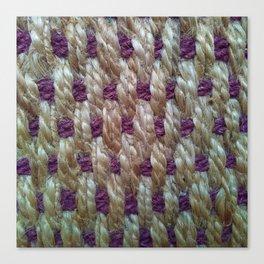 Purple Weaved Canvas Print