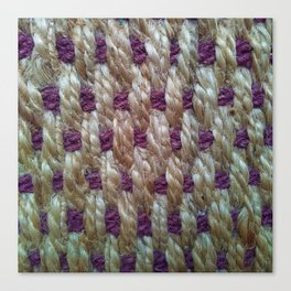 Purple Weaved Canvas Print