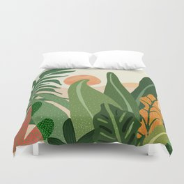 Desert Garden Sunset Duvet Cover