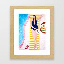 Sunbathe on Poolside Framed Art Print