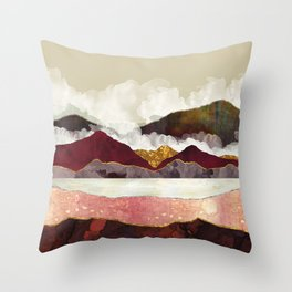 Melon Mountains Throw Pillow