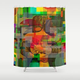 Chasoffart-Smooch-3 Shower Curtain