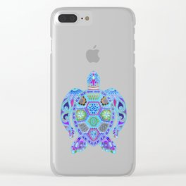 Royal Sea Turtle - blues Clear iPhone Case