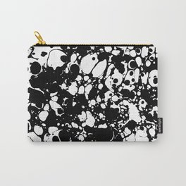 Black and white contrast ink spilled paint mess Carry-All Pouch