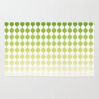 dot Area & Throw Rugs featuring Dot dot dot Green by SannaDavidsson