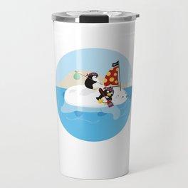 Cute Penguin Lover Pirate Polar Bear Boat Ship Sailor Seaman Pirate Fan Gift Travel Mug