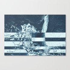 Swell Zone Splatter Ice Canvas Print