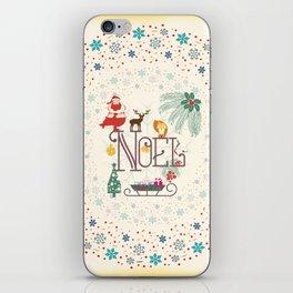 Christmas Noel iPhone Skin