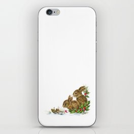 Winter in the forest - Animal Bunny Illustration iPhone Skin