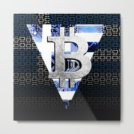 bitcoin Greece Metal Print