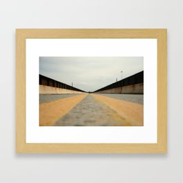Closed Bridge Framed Art Print