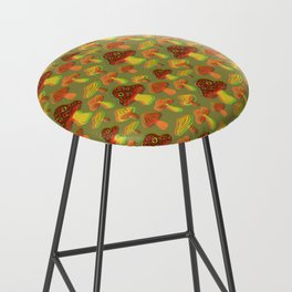 Mushroom Print in 3D Bar Stool