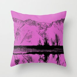 Knik River Mts. Pop Art - 5 Throw Pillow