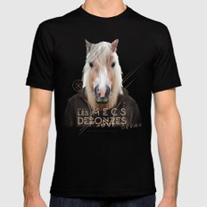 Cheval Mens Fitted Tee SMALL Black