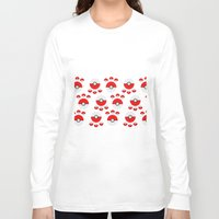 pokeball Long Sleeve T-shirts featuring Pokeball Print by UMe Images